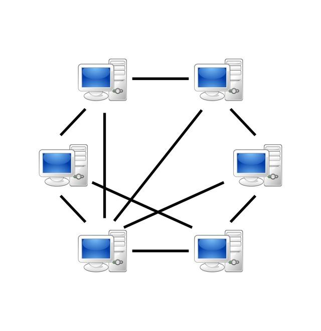 P2P 网络示意图
